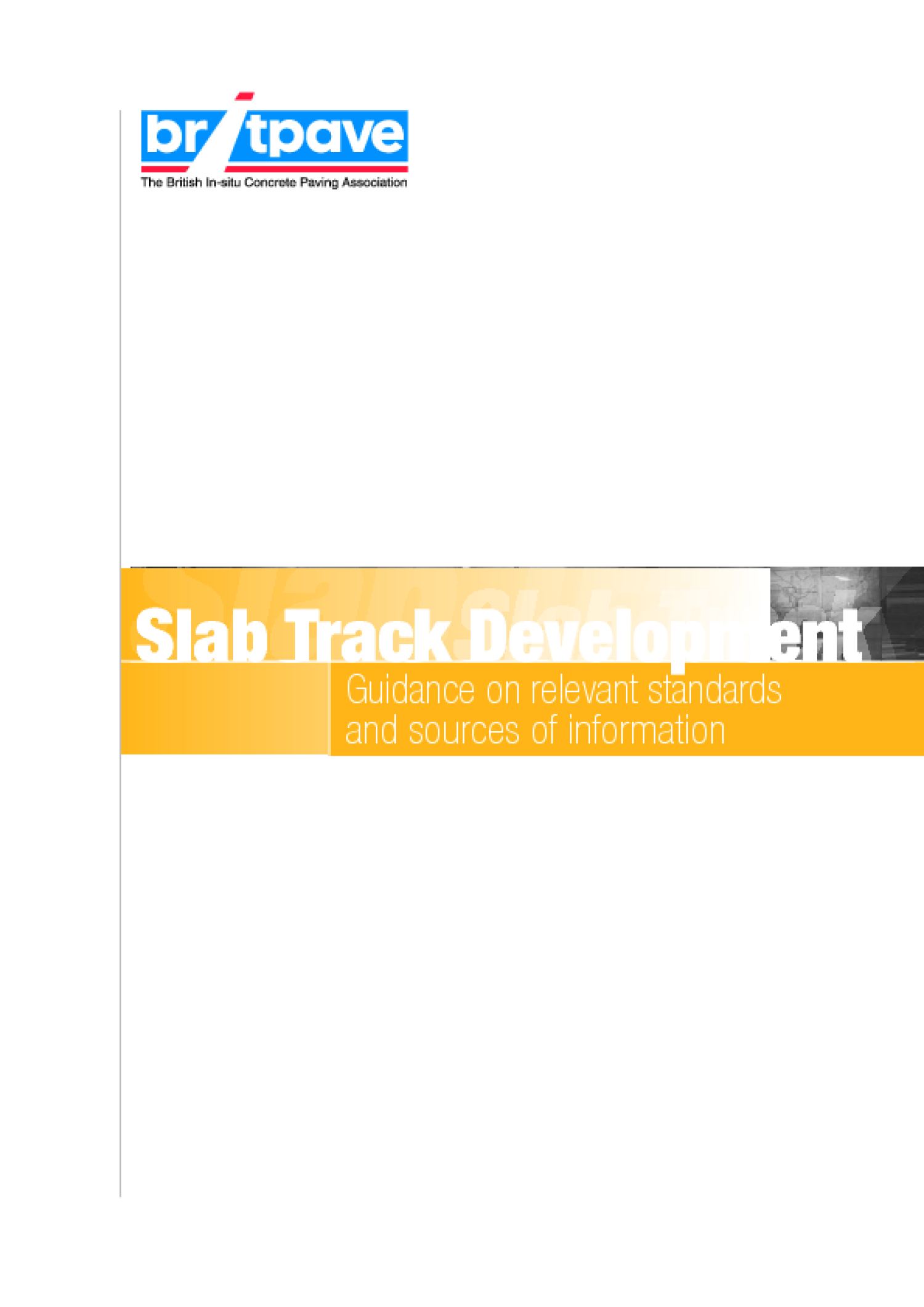 Picture of Slab Track - Guidance on relevant standards