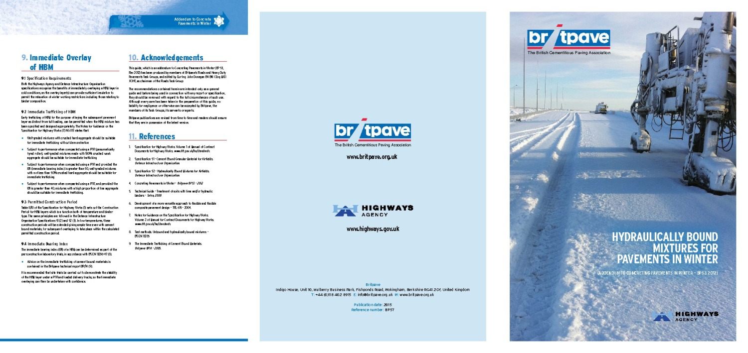 Picture of Hydraulically Bound Mixtures for Pavements in Winter
