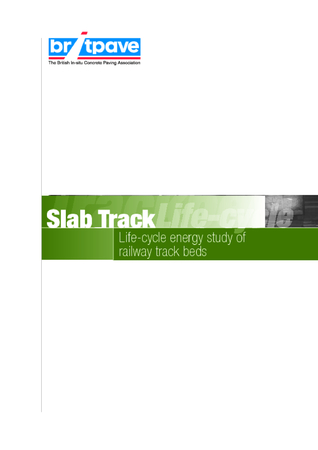 Picture of Slab Track - Life Cycle assessment study